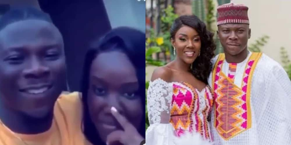 Video: Stonebwoy shows off wife Louisa's beauty in wild romantic video as they 'chop' true love