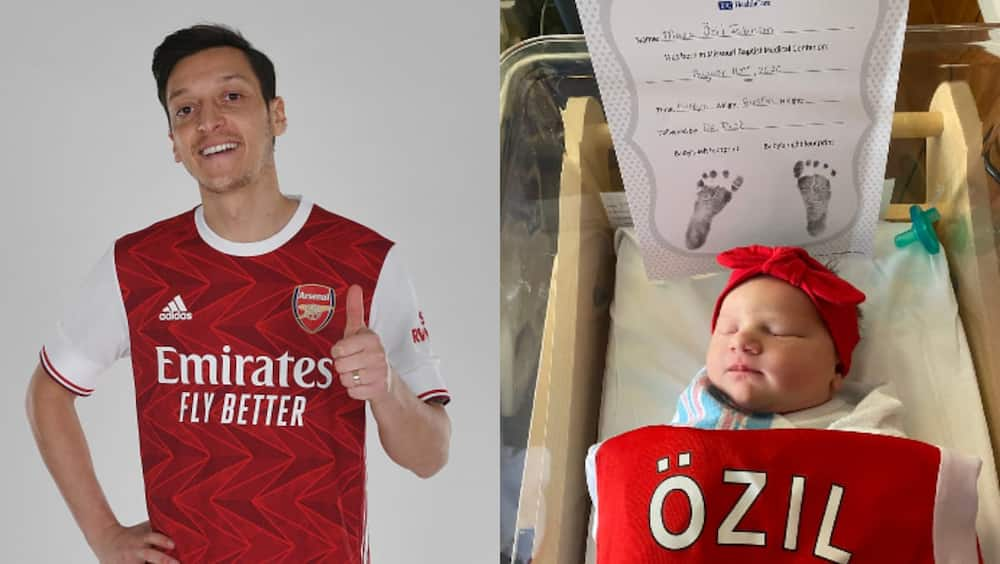 Mesut Ozil becomes godfather as Arsenal fan names newborn baby after him