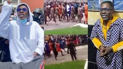 First video of Shatta Wale in Ankaful Prison pops up; inmates line up to give him fans
