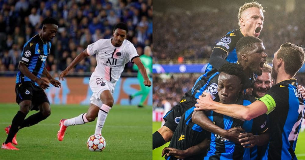 Ghanaian winger Kamal Sowah shines on his Champions League debut as Club Brugge hold PSG
