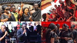 Photos and videos drop as McBrown, Agya Koo, Lil Win, Mercy Asiedu, Emelia Brobbey and other Kumawood stars reunite at a funeral
