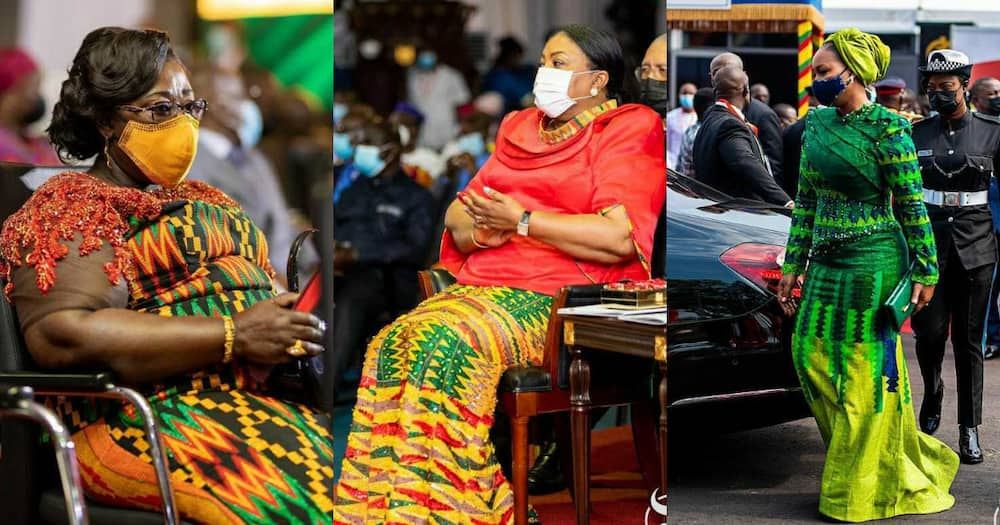 See how Ghana's politicians rocked rich Kente to Akufo-Addo's inauguration