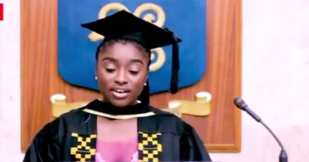 Akora Forson: Female student emerges valedictorian for business school at Legon