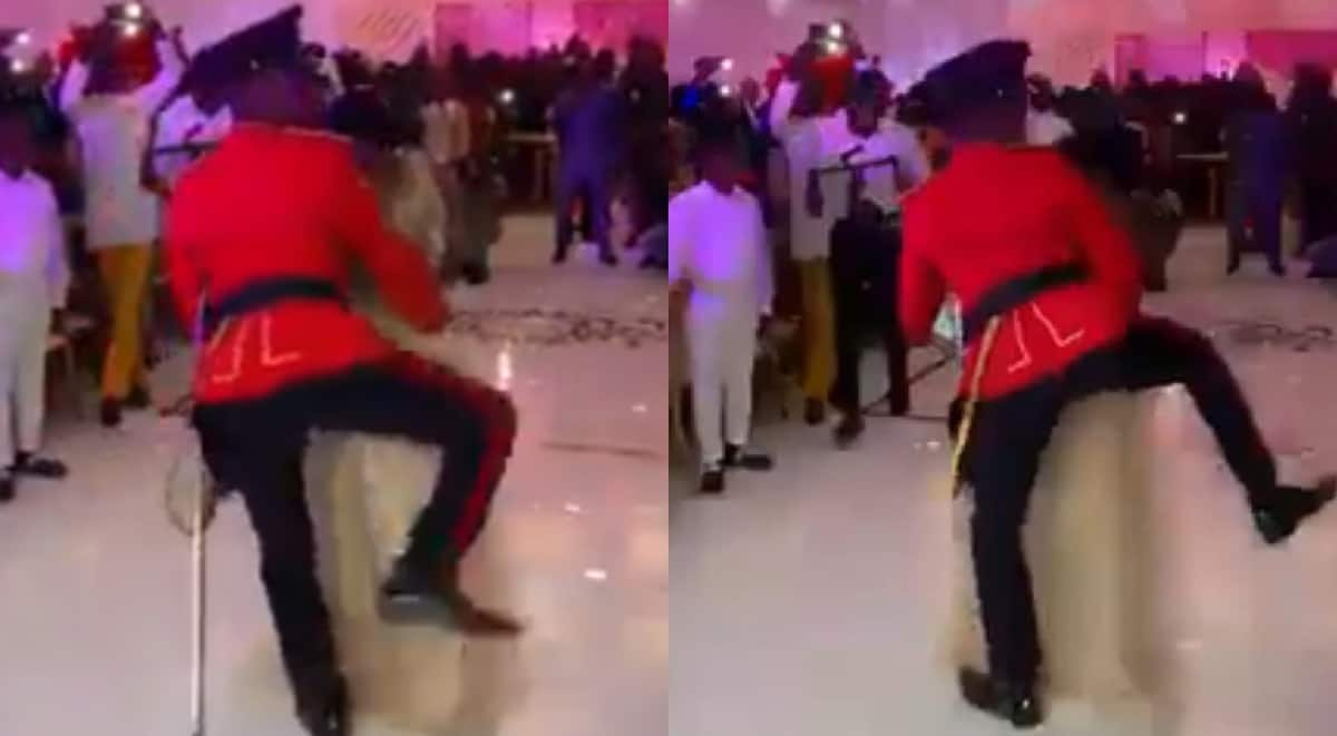 Ghanaian military officer wins show; grinds curvy lady's 'tundra' in viral dance video
