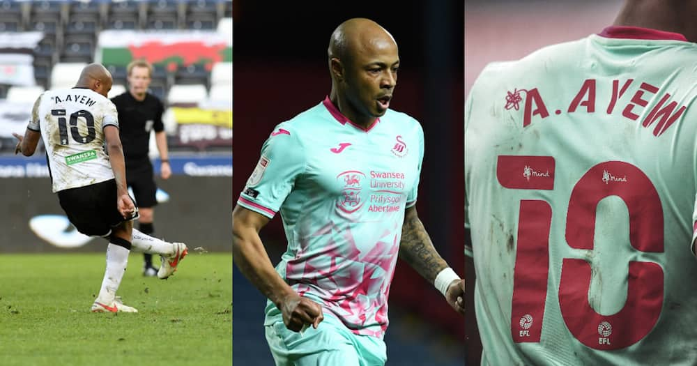 Andre Ayew in Swansea jersey