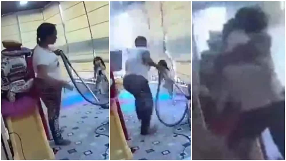 Snapshots that were taken from the video which show the woman in action. Photo source: HGSmediaplus