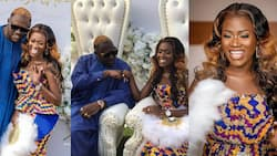 Fella Makafui and Medikal pull crowd at wedding in new video; fans say he dressed better than on his engagement