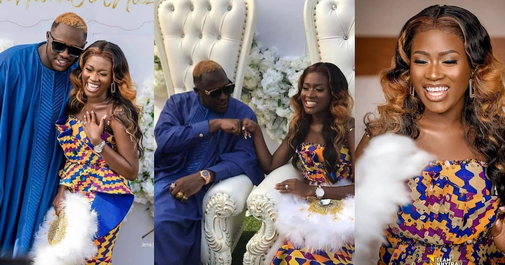 Medikal: Fella Makafui and Husband Attend Wedding Together; Fans say he Dressed Better than on his Engagement