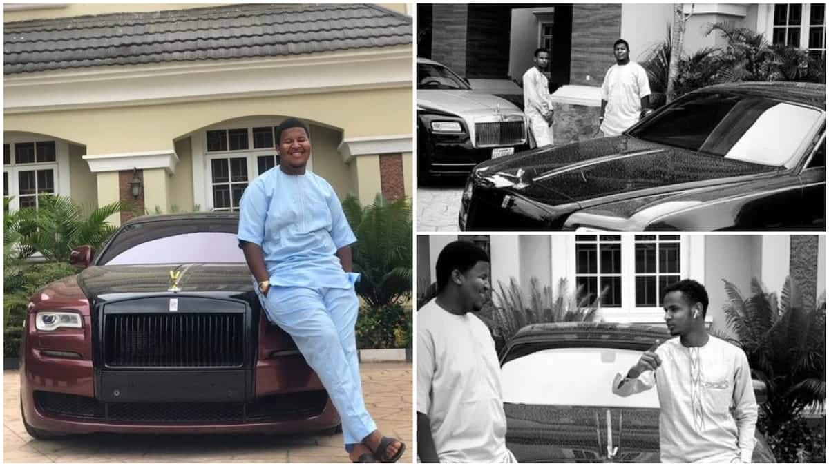 Rich young man opens up about his dad's fleet of Rolls Royce; inspires others