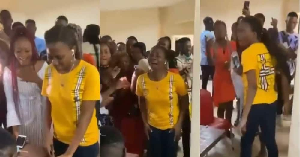 Lady who 'went mad' after boyfriend proposed to her on Vals Day breaks her silence