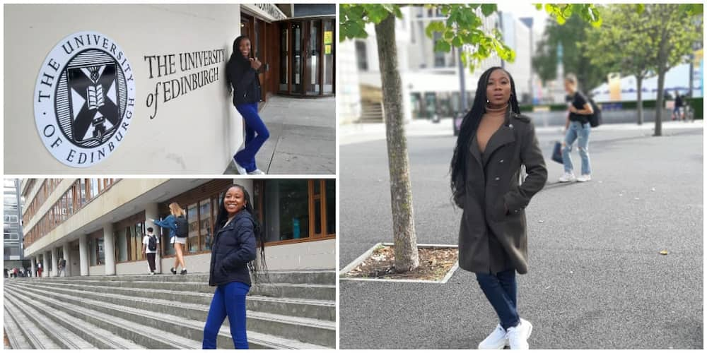 Reactions as Nigerian lady who hawked to raise money in university moves to UK for abroad studies