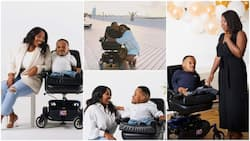 Pretty lady falls in love with disabled man, their wedding photos stir reactions, people call her names