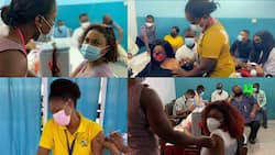 Here are videos of how McBrown, Nana Aba, Yvonne Nelson, Afia Schwar, 6 other top stars trooped to get vaccinated
