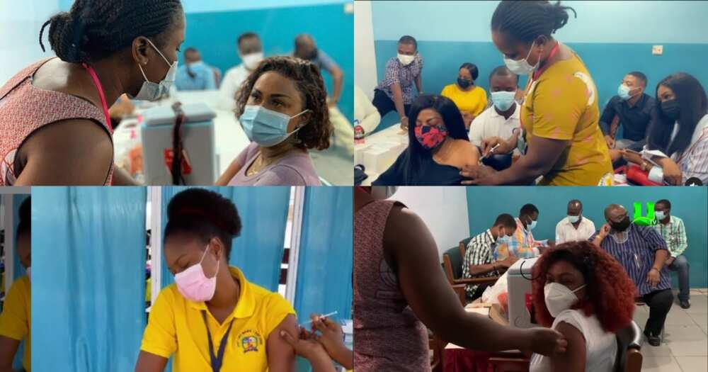 McBrown, Nana Aba, Afia Schwar, Yvonne Nelson, Other Stars Take COVID-19 Vaccine (Videos, Photos)
