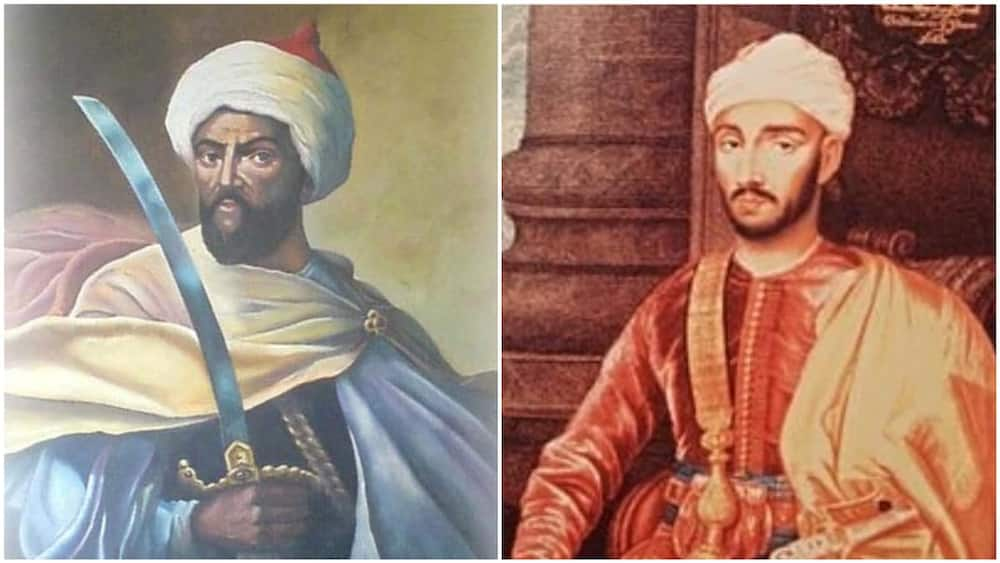 A collage of the sultan. Photos sources: Morrocanews/Wikipedia