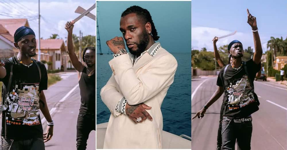 Burna Boy spotted in video rapping Black Sherif's Second Sermon word for word