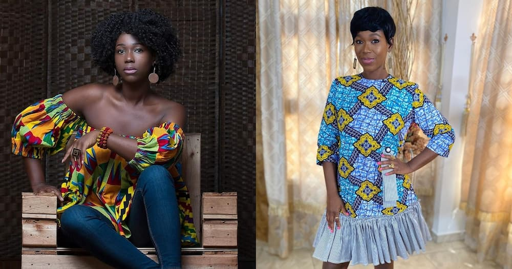 Ama K Abebrese causes stir with no makeup & wig photo