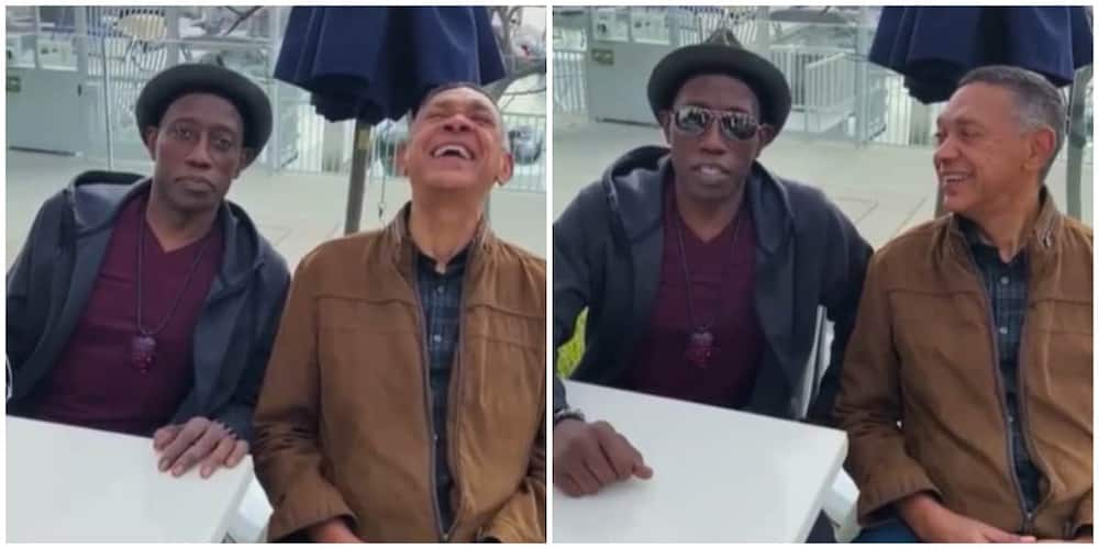 Bawo Ni? Hollywood's Wesley Snipes Speaks Yoruba as He Hangs out with Ben Murray Bruce