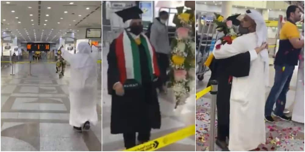 Father Receives His Graduate Daughter at the Airport with So Much Joy & Celebration, Welcomes Her with Garland