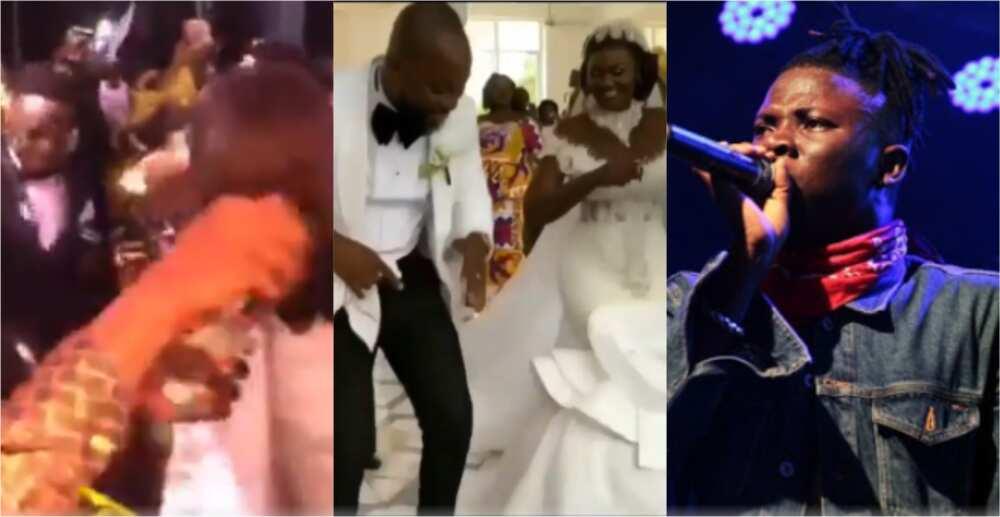 Rev Erskine: 'Rich kids' spray cash on YFM presenter as Stonebwoy performs at his wedding (Video)