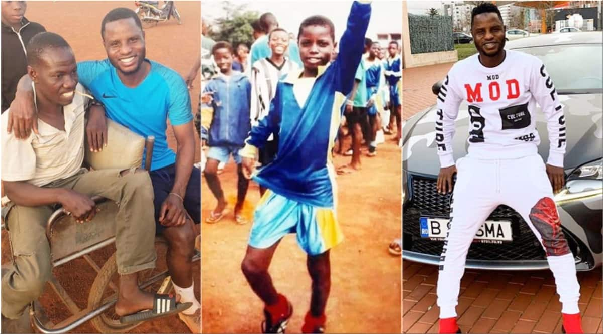Old photo of Wakaso playing on rough ground tells his story from rags to riches