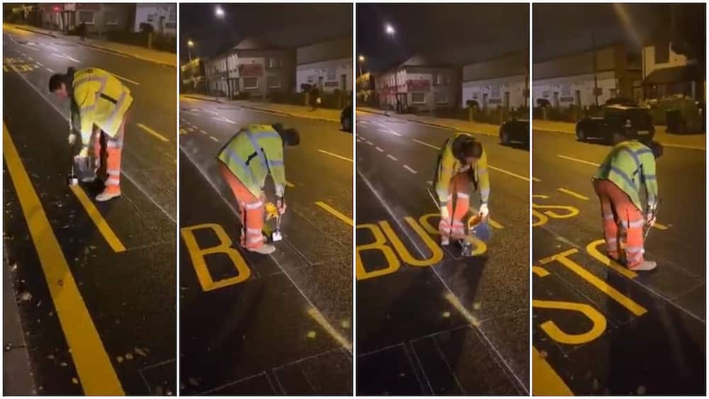 Viral video shows amazing footwork of a painter who made great artowk on the road