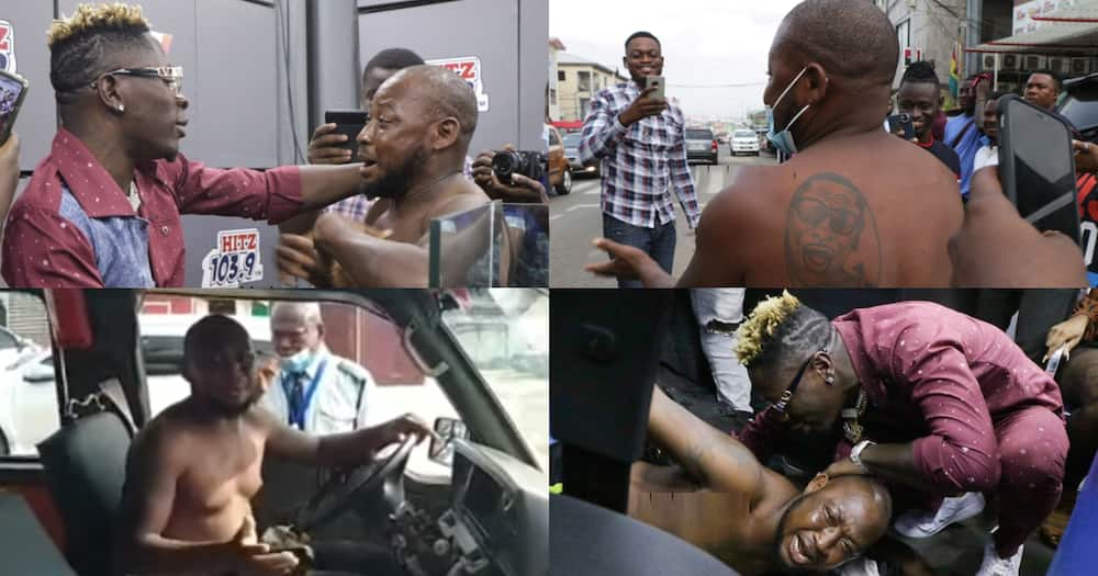 Shatta Wale: Fan who stormed Hitz FM interview is a trotro driver who abandoned his passengers