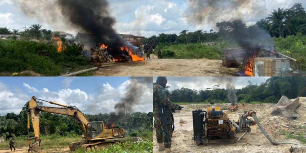 Operation Halt II takes anti galamsey fight to Western Region; destroys about 20 excavators