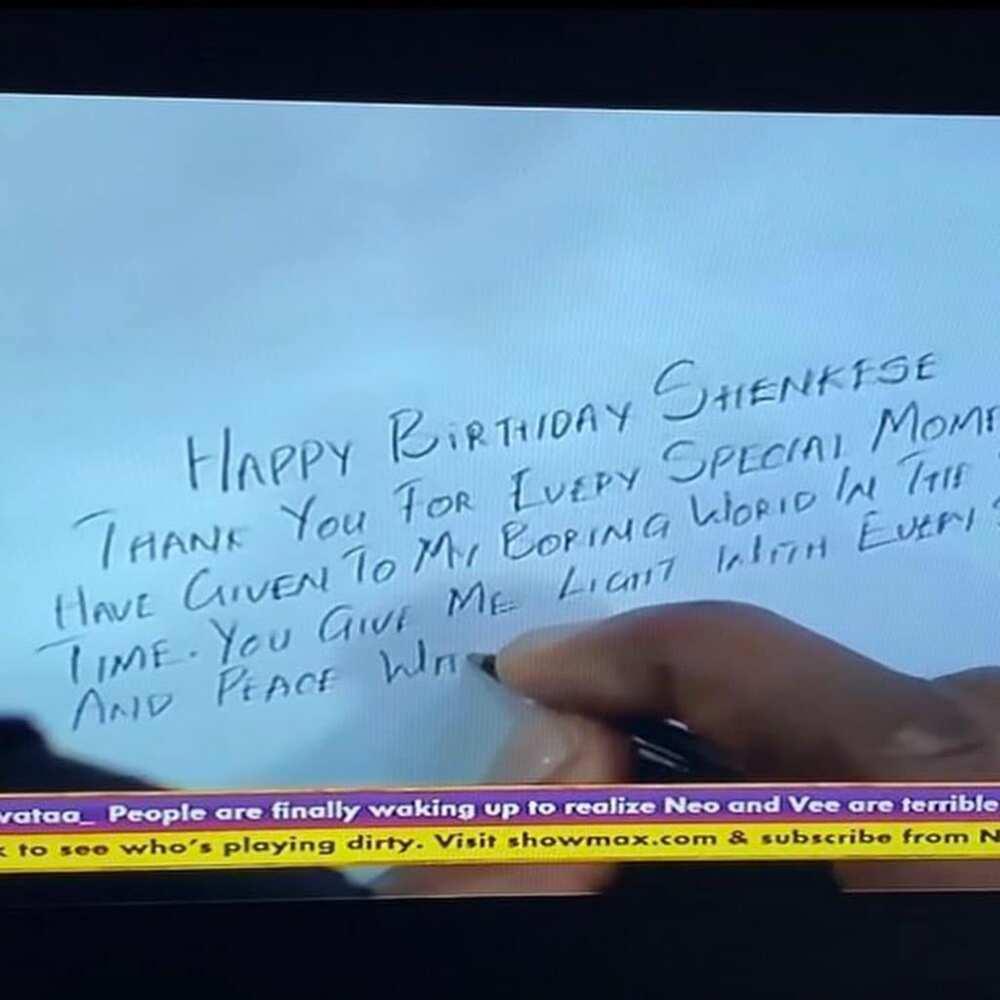 BBNaija 2020: Neo organises birthday surprise for his bae Vee (videos)