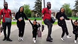 Video of Baby Maxin dancing to Simi's Duduke with her mom and dad in Canada warms hearts