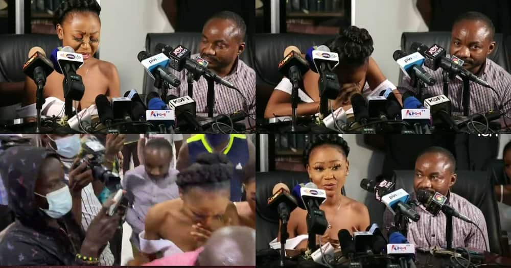 Akuapem Poloo Breaks Down In Tears At Press Conference (Video)