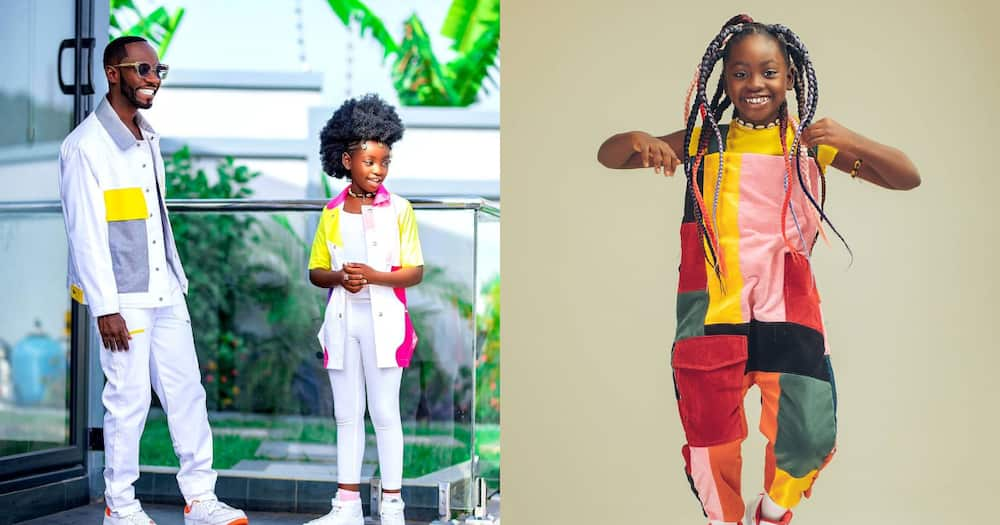Okyeame Kwame celebrates 10-year-old daughter who is in JHS as she marks b'day