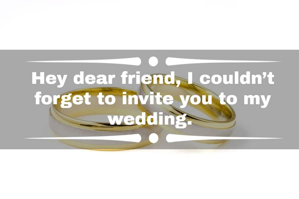 wedding invitation messages for friends