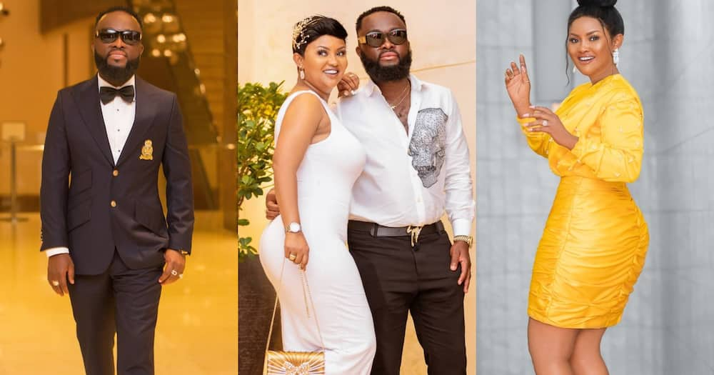 McBrown and Husband Maxwell Mensah Cause Traffic in Dubai as Airport Workers Surround them for Photos