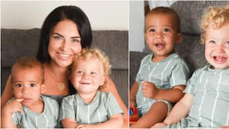 Couple gives birth to twins with rare black and white skin colours; charming photos pop up