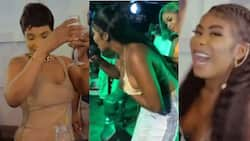 Yaa Jackson 'chills' with Benedicta Gafah after giving free show at Djwobeti's b'day jam; video pops up