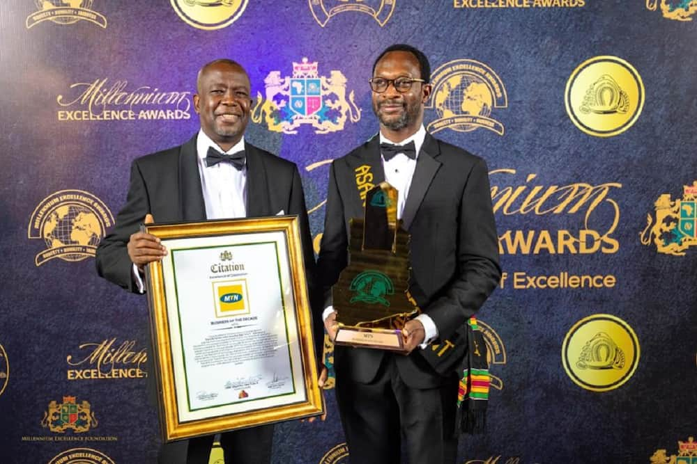 MTN Ghana adjudged business of the decade by Millennium Excellence Foundation