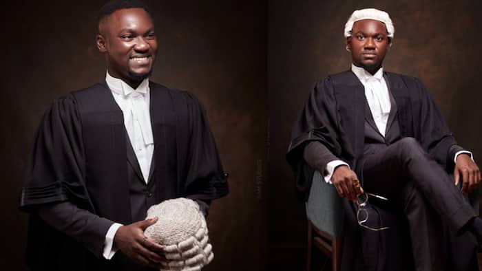 Ghanaian man who wrote final law exams on his late dad's birthday called to the bar