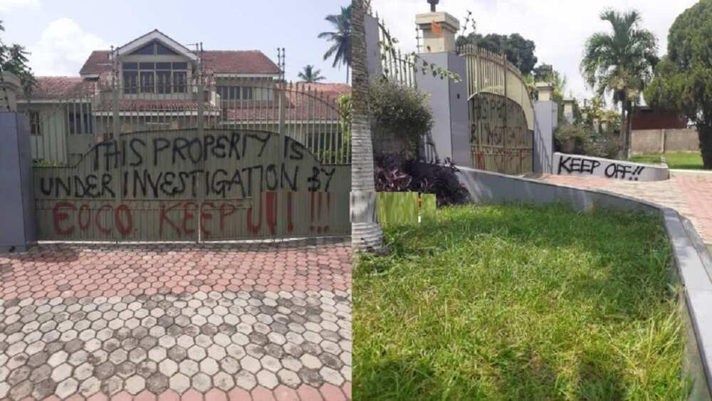 EOCO takes over Kofi Amoabeng's plush mansion; warns Ghanaians to keep off