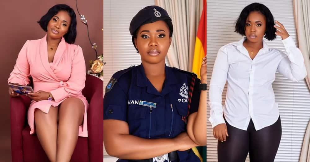 Meet Theresa the new Ghanaian police officer melting the Internet with her stunning beauty