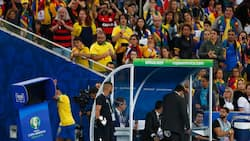 Gabriel Jesus cries, punches VAR monitor after red card in Copa America final (photos)