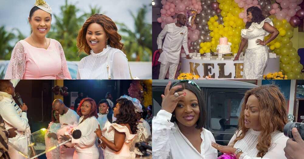 Lebene, Osafo Nkansah outdoor baby girl with McBrown, Jackie Appiah, Becca, Nikki Samons, Osebo (photos, video)