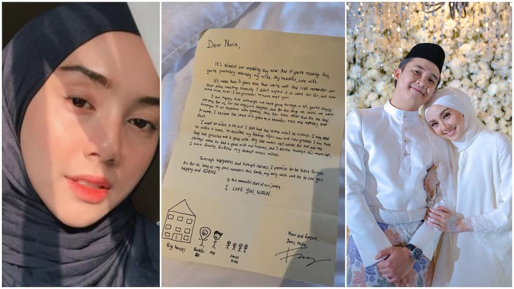 Photo shows the emotional letter man wrote to his wife 1 hour after they got married, his words stir reactions