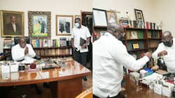 Akufo-Addo resumes work after handing Mahama another defeat