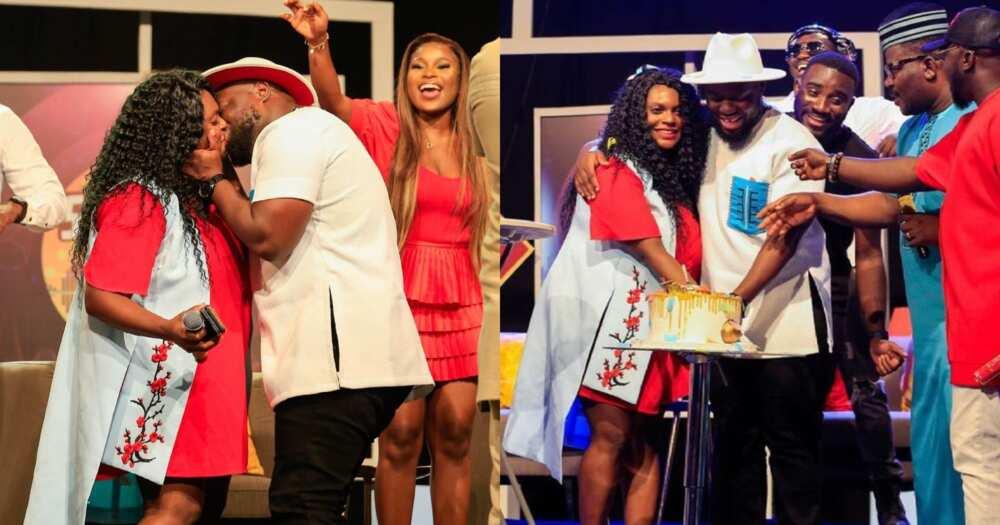 Giovani Caleb's Wife Belinda Boadu Surprises On Live TV For Their 5th Wedding Anniversary (Video)