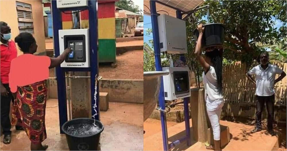 Photos of automated public standpipe pop up Abomosu; Ghanaians react