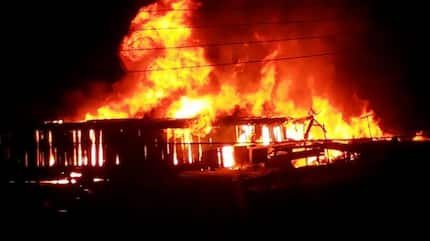 Massive fire outbreak at Odorna Market in Kwame Nkrumah Circle