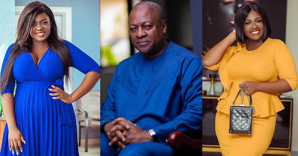 Tracey Boakye speaks about sugar daddy for the 1st time; says it is not Mahama