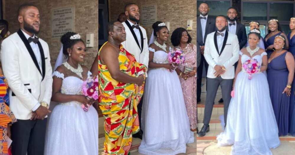 Beautiful white wedding photos drop as Okay FM presenter marries husband Nana Yaw