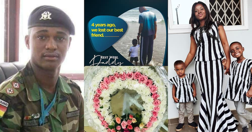 Barbara: Major Mahama's Wife Mark 4th Anniversary Of His Death; Sad Photos Drop